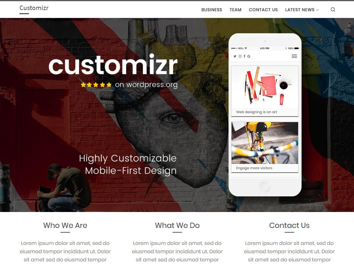 Customizr es un tema limpio y adaptable